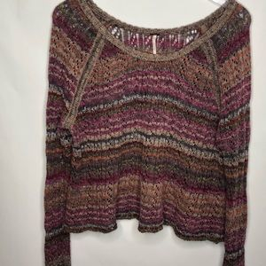 Free People Lost In The Forest Striped Pullover